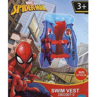 Mesuca Sports Marvel Spiderman Blue Inflatable Swimming Vest Float