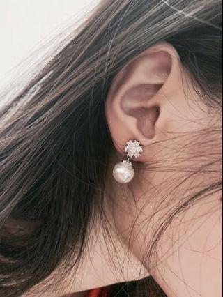 【包郵】純銀珍珠耳夾