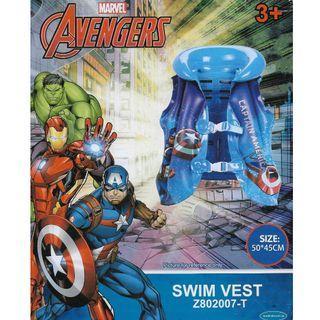 Mesuca Sports Marvel Avengers Captain America Blue Inflatable Swimming Vest Float