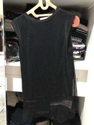 ZARA fishnet top (black)