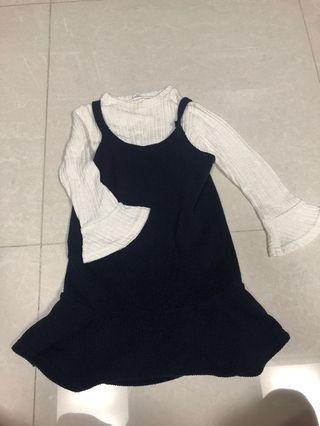 韓國兩件套連衣裙