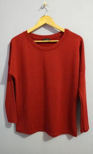 Topshop knit red top