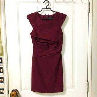 Topshop burgundy dress