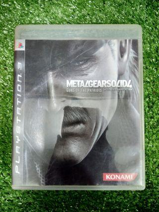 Kaset BD PlayStation 3 PS3 MGS 4 Metal Gear Solid 4