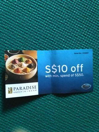 🚚 $10 Paradise Group Voucher