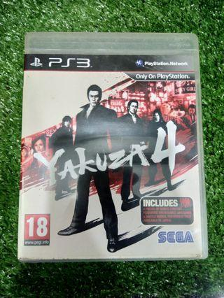 Kaset BD PlayStation 3 PS3 Yakuza 4