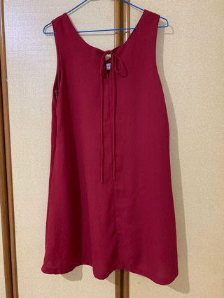 Fayth red dress w pockets