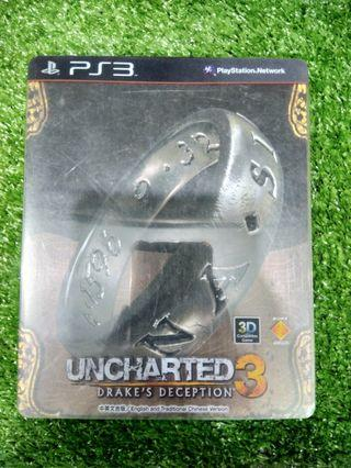 Kaset BD PlayStation 3 PS3 Uncharted 3 Drakes Deception Steelcase Edition