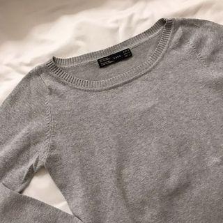 Zara Long Sleeve Grey Sweater Knit