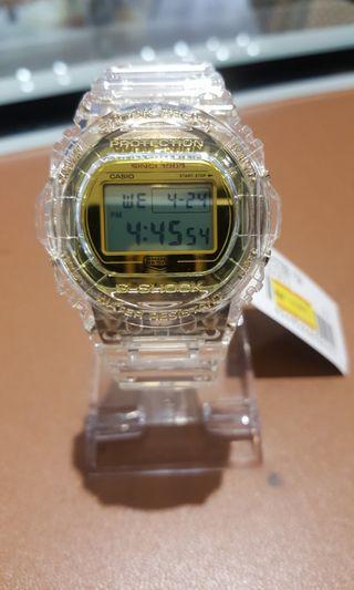 G-Shock DW-5735E-7JR Glacier Gold 35th Anniversary Clear Skeleton