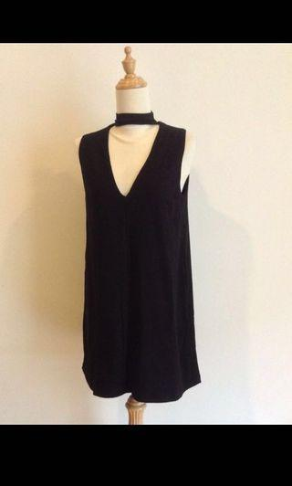 KOOKAI Australia Black choker sleeveless dress