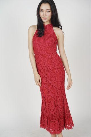 MDS raielyn lace red dress
