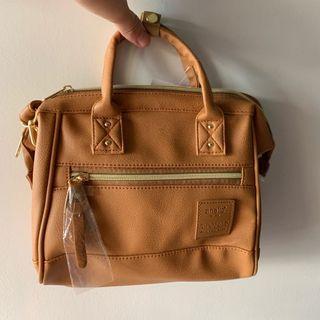 🚚 Anello Handbag - Faux Leather - Brown