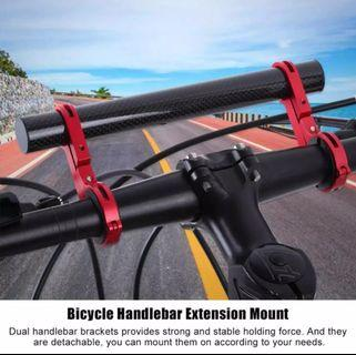 20cm Carbon Bike Mount Extender. Dual extension bar. Available in 3 colours.