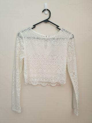 NEW forever new lace crop