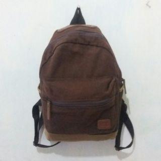Tas Brown Backpack Ukuran Binder A5