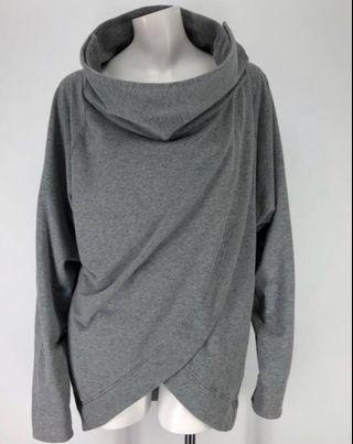 🚚 Lululemon cocoon sanvansa wrap grey snap cardigan jacket  US 4