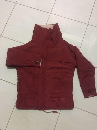 Jaket Gunung Merah Maroon