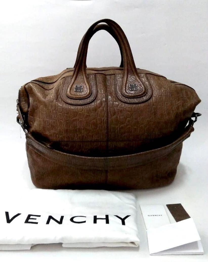2012 Givenchy Croco Leather Brown 40 X 19 X 36 Cm. kelengkapan: Db, rec, strap, booklet, sample leather