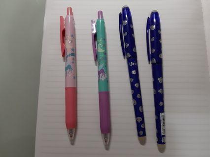 藍色原子筆及紅色原子筆