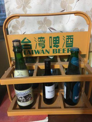 🚚 台灣啤酒 提籃 復古 裝飾 啤酒籃