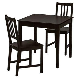 IKEA LERHAMN / STEFAN table and 2 chairs
