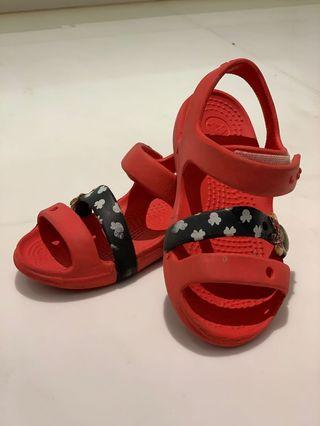 Crocs Girls Red Sandals Size 10