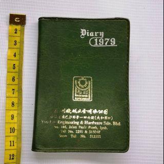 Vintage 1979 Pocket Diary