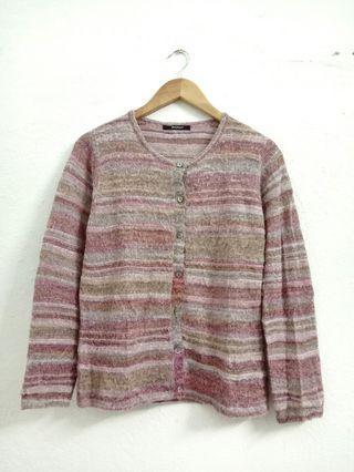 Striped Knitwear Cardigan