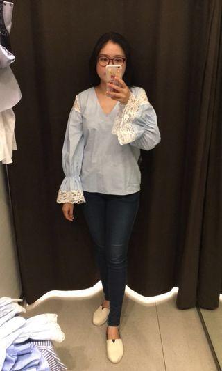 Zara blue lace