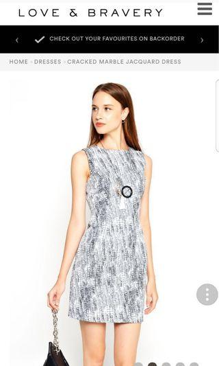 Love & Bravery Cracked Marble Jacquard Structured Dress