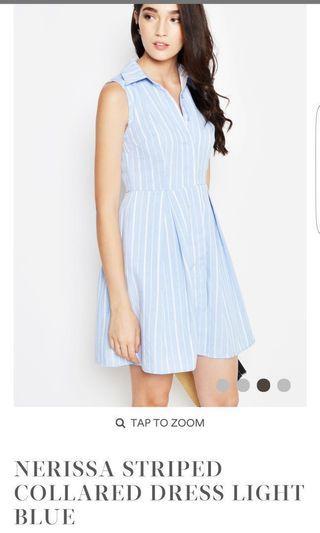 Love & Bravery Nerrisa Stripe Collared Dress Light Blue