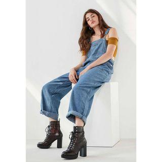 Urban Outfitters BDG Zip Pocket Overall in Rinsed Denim