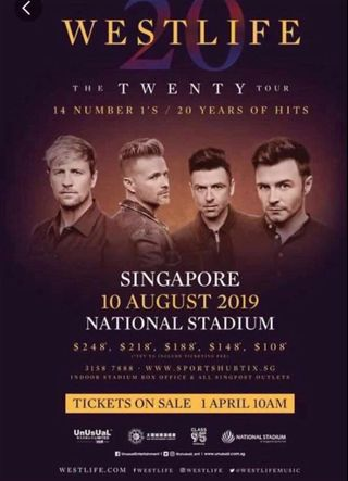 westlife concert | Rentals | Carousell Singapore