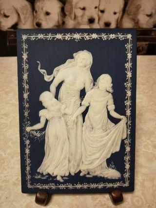 1978年德产 Wedgwood 浮雕瓷板画