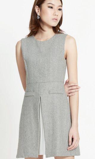 🚚 Pomelo Herringbone Layered Shift Dress