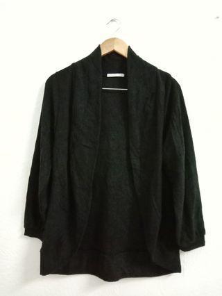 Black Knitwear Cardigan