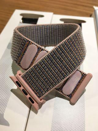 Apple Watch 38mm 運動魔術貼錶帶 (粉紅)