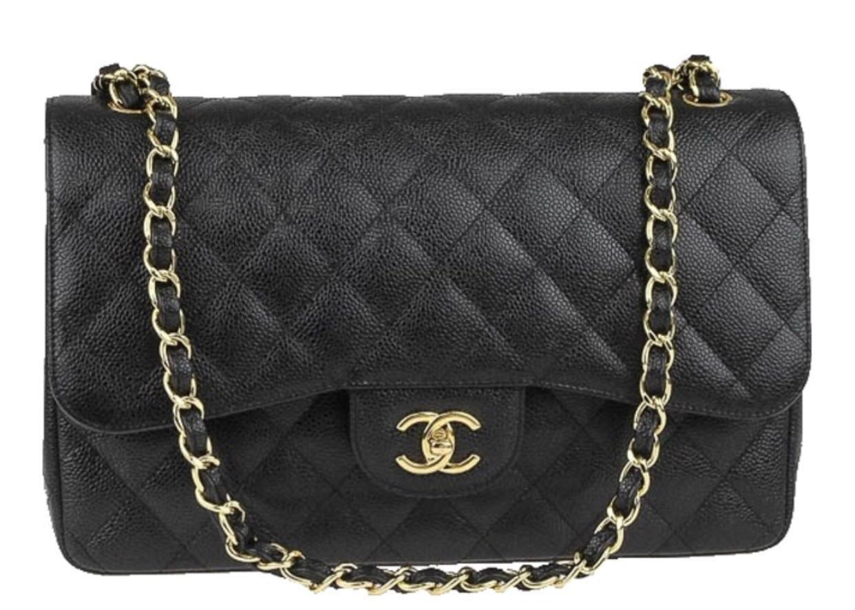 6341d304581f 20 Chanel Jumbo Classic Double Flap - Black Caviar leather GHW ...