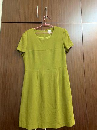 🚚 媽媽ㄉ衣櫃-淺墨綠洋裝