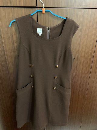 🚚 媽媽ㄉ衣櫃-咖啡色洋裝