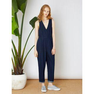 The Fifth Fact & Fiction Jumpsuit in Dark Denim