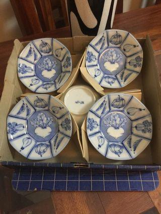 5Pc Bowls Set Blue and White