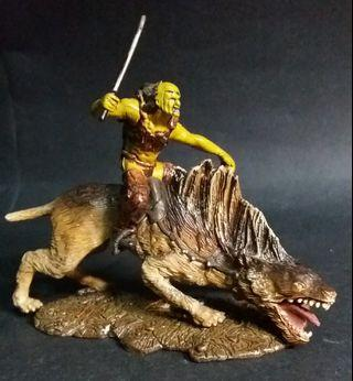Lord of the Rings Two Towers Sharku and Warg Beast Action Figures Orc LOTR