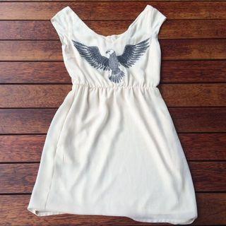 🚚 Mango Eagle Print Dress