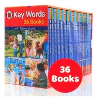 LADYBIRD KEY WORDS WITH PETER AND JANE (36 BOOKS)