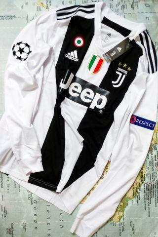 Fully Patched Juventus FC Home 2018/19' LS Jersey w/Nameset