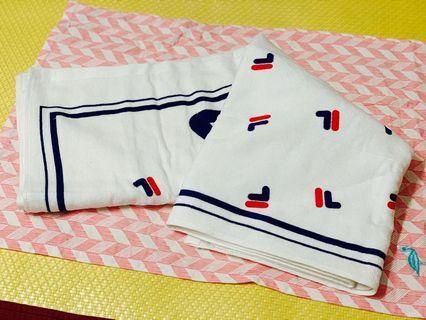 🚚 全新正品白色FILA浴巾(大)