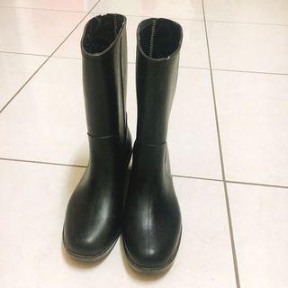 🚚 雨靴黑色 中短靴 止滑鞋