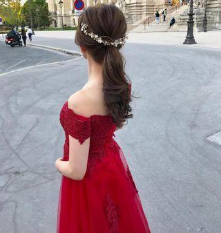 Pre wedding 婚禮紅色晚裝